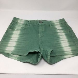 Jolt juniors denim shorts size 9 green acid wash